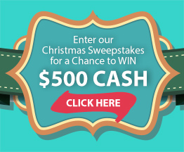 Enter our Christmas Sweepstakes for a chance to win $500