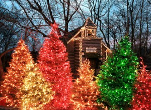 "Silver Dollar City lights up for its  ""An Old Time Christmas"" celebration."