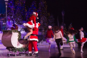 One of the colorful and exciting production numbers from the Andy Williams Christmas Show.