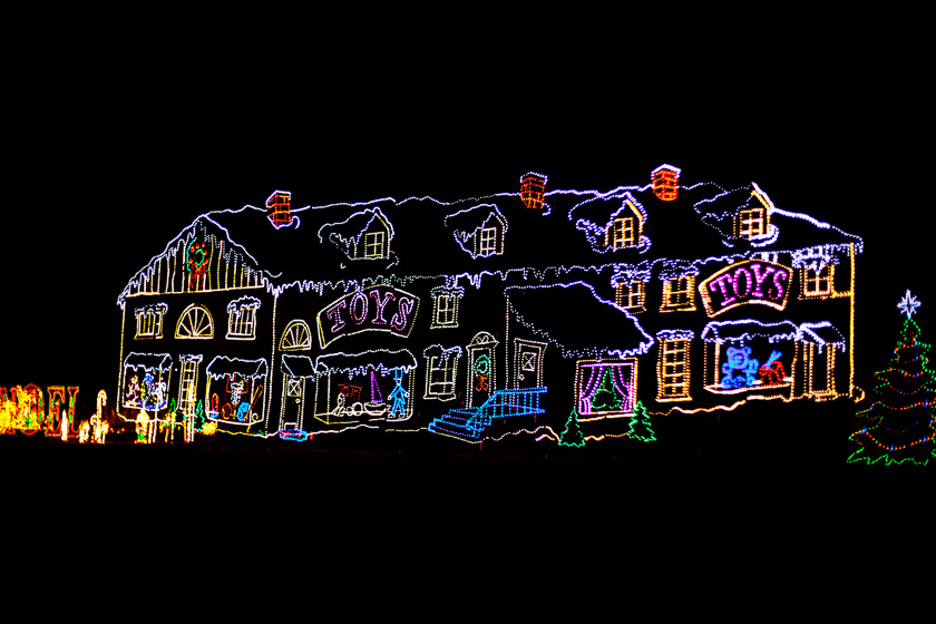 One Of Many Christmas Lighting Displays ...