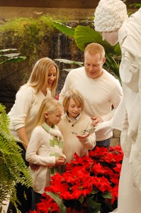 "Live ""angel"" sharing butterfly with family during ""White Flight."""