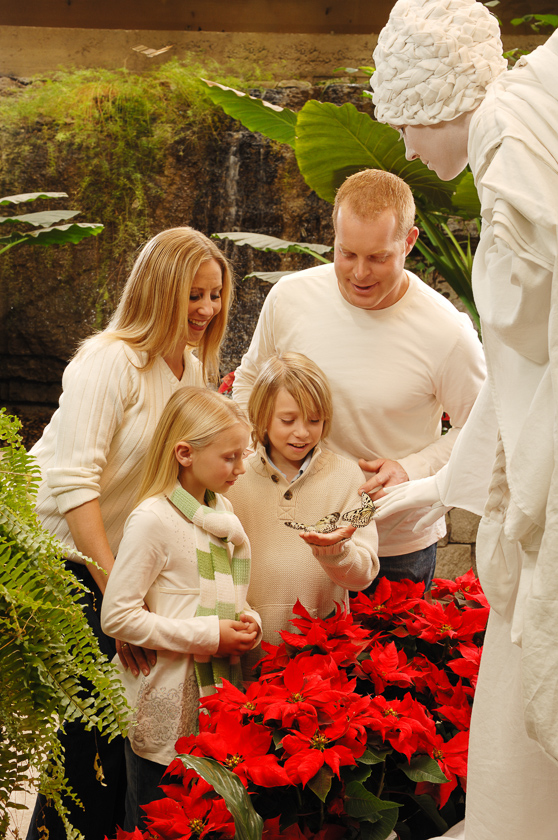 """Live """"angel"""" sharing butterfly with family during """"White Flight."""""""