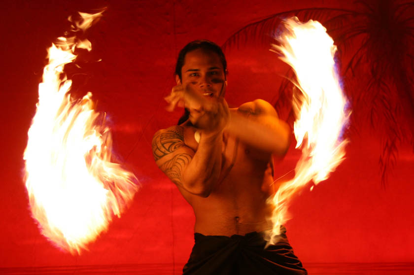"Fire Dancer from ""Island Fire."""