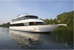 "Welcome the New Year in celebrating aboard the 100 foot luxury yacht ""Landing Princess."""