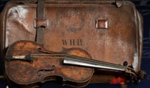 The iconic violin played by bandmaster Wallace Hartley as the Titanic sank.