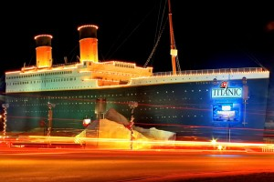 """The Titanic Museum Attraction boards passengers for a unique """"voyage"""" regardless of the weather."""