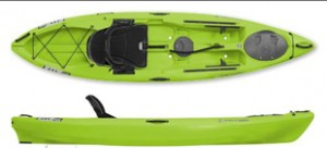 The Wilderness Ride fishing kayak.