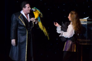 Dave and Denise Hamner with one of magical winged friends.