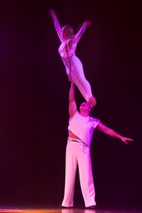 Vadim and Maria Serykh performing their amazing strength adagio hand balancing act.