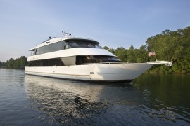 "The 100 foot luxury yacht ""Landing Princess."""