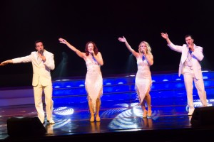 The shows four featured vocalists Alex Webster, left, Heather Peterson, Maggie Moore and Tony Turner.