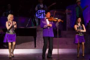 "Christina Tabuchi, right, Shoji Tabuchi and Sharlyn Smith performing during the ""Dixieland ""segment of the show."