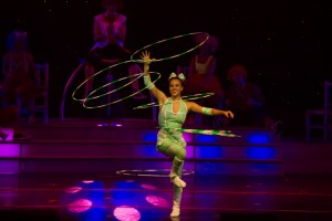 Noemi during her amazing Hula Hoop performance.