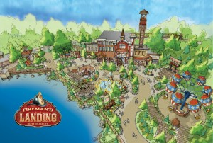 Artist's rendition of Fireman's Landing.