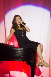 """Kassidy  Dyer during her performance of """"At Last."""""""