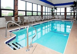 The Inn's sparkling indoor pool.