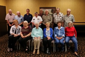 Lakin Kansas  High School Class of 56 at the opening night of their Branson Class Reunion.