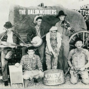 Original  Baldknobbers case Bill-Mabe-Bob-Mabe-Delbert-Howard,-left-to-right-back-and-front-left-Jim-Mabe-Lyle-Mabe-Chick-Allen.