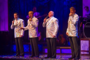 The Gospel Quartet of Tim Greg, Chuck Crain, Bruce Haynes and Jay Wickizer.