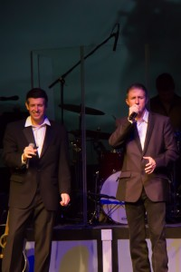 """Matt, left, and Mark Rankin during their inspirational performance of  """"The Amnchor Holds"""
