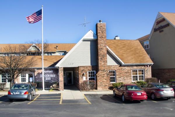 Main entrance to Residence Inn.