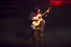 Adam Hughes during his acoustical guitar performance.