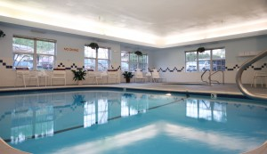 The Inn's indoor pool and whirlpool. area