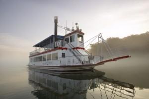 "Main Street Lake Cruises ""Lake Queen"" plying the waters of Lake Taneycomo."