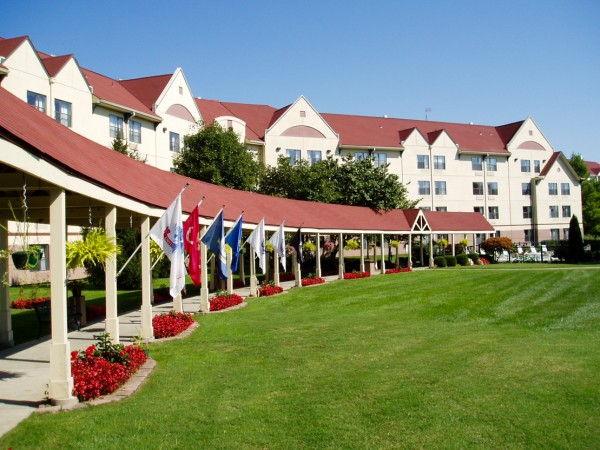 Part of the spacious relaxing grounds of the Welk Resort.