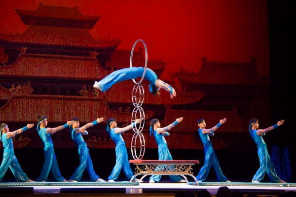 Hoop Jumping is just one of  the many exciting and dangerous acts that are performed.