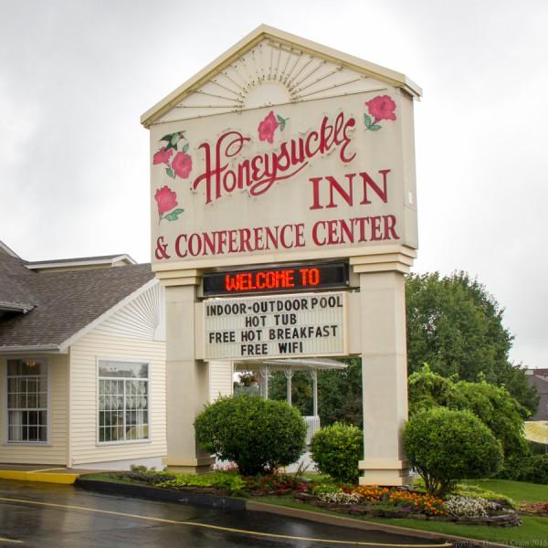 Entrance to Honeysuckle Inn & Conference Center
