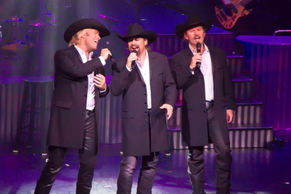 The Texas Tenors, Marcus Collins, right,  John Hagen, and JC Fisher .