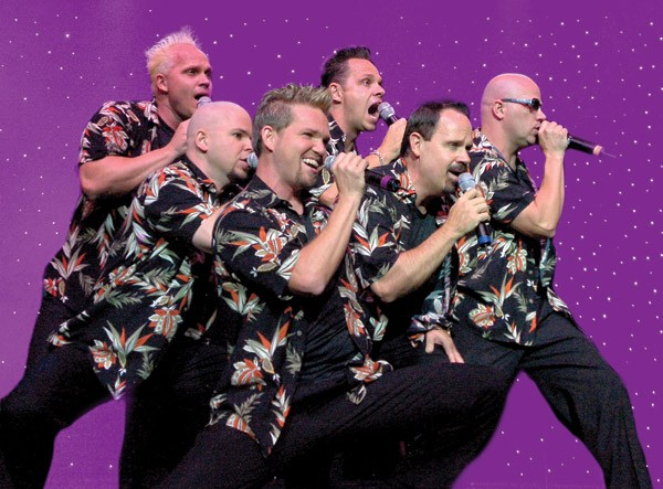 SIX, Kevin, left, Owen, Curtis, Lynn, Barry, and Jak,  is perennially one of Branson's most popular shows.