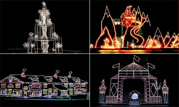Just a few of the beautiful  Christmas light displays lighting up the Ozark Hills.