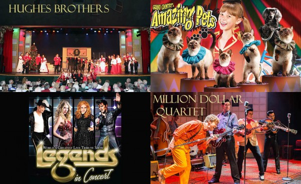 Many of Branson's most popular shows will be open Christmas Week.
