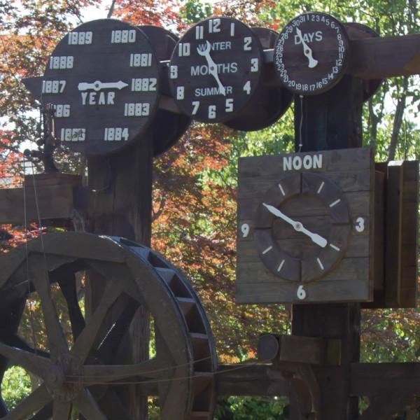 Silver Dollar City's unique Harvey Water Clock
