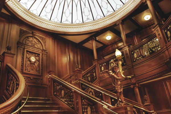 The full scale replica of the Titanic's Grand Stair Case has been the site of many romantic moments.
