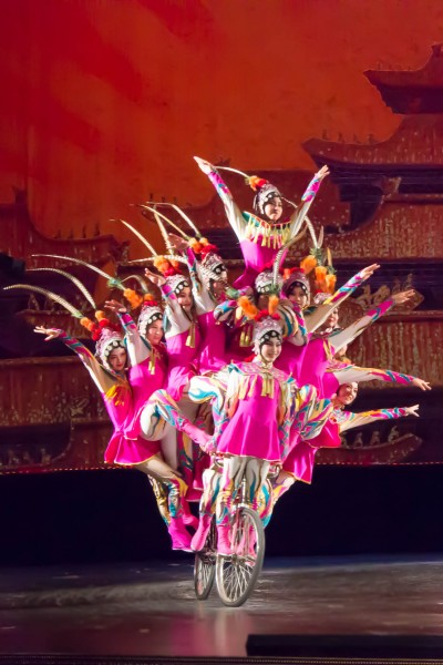"Just one of the colorful and exciting acts that kids and their families will see in the ""Acrobats of China."""