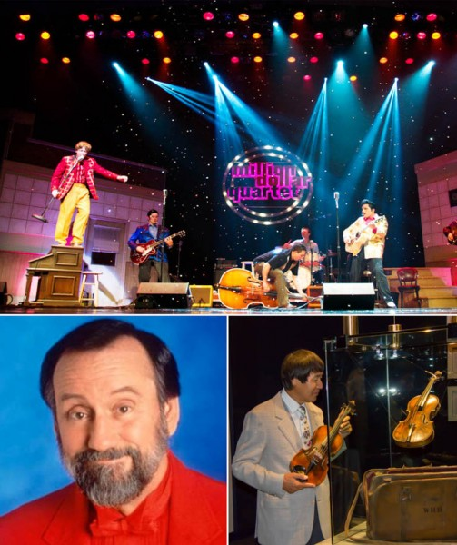 One of Branson's hottest new shows the Million Dollar Quartet, the incredible Ray Stevens, and the $1.7 million dollar Wallace Hartley Titanic Violin, pictured here with Branson's premier violinist, Shoji Tabuchi are just some of the amazing events taking place in Branson during May.