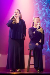 """Clarissa and Kendra performing the """"Flower Duet"""" from Léo Delibes' opera Lakmé."""