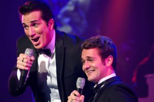 George and Garrett Dyer during their unique and entertaining Dean Martin/Frank Sinatra medley.