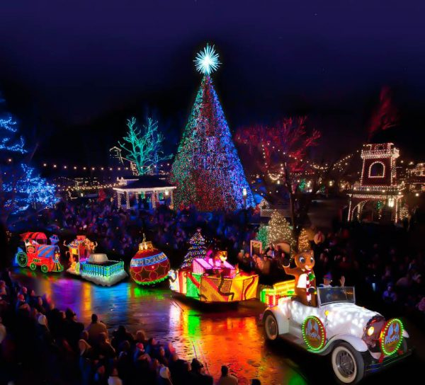 """Rudolph The Red-Nosed Reindeer leads the """"Holly Jolly Christmas Light Parade"""" during Silver Dollar City's """"Old Time Christmas."""""""