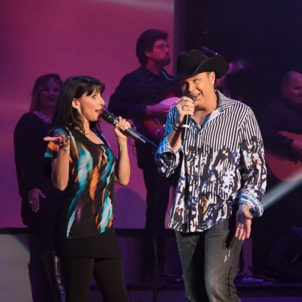 Clay and Tina Cooper performing Squeeze Me.""