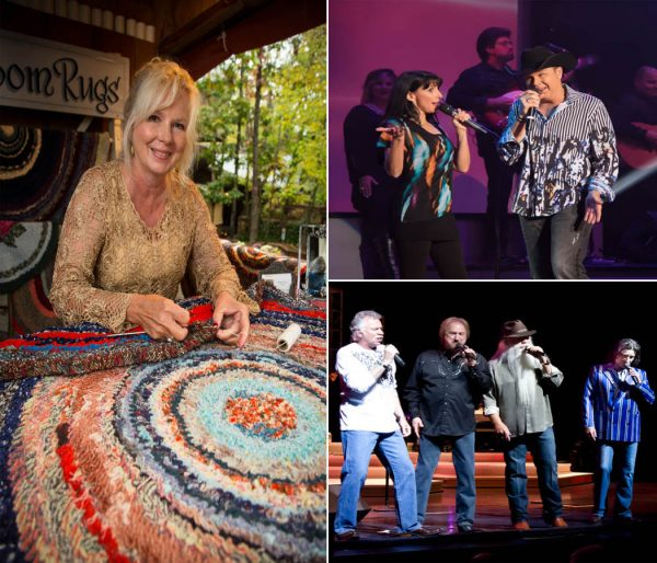 "One of the over 115 craftsmen who will be demonstrating at Silver Dollar City's National Harvest & Cowboy Festival; Clay & Tina Cooper performing in ""Clay Cooper's Country Express;"" and the Oak Ridge Boys."