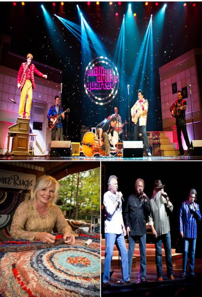 "Featured Show of October, ""Million Dollar Quartet,"" Rug Making is just one of over 120 crafts at Silver Dollar City's National Harvest & Cowboy Festival, and the Oak Ridge Boys."