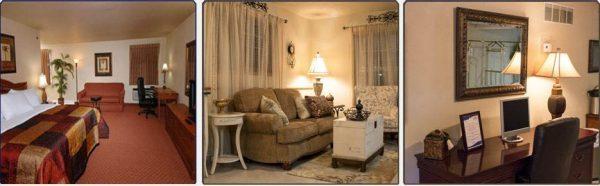 Interior of spacious Jacuzzi Suite.