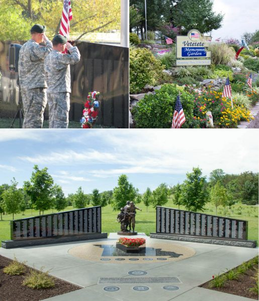 """The Wall,"" Veterans Memorial Garden, and the Official Missouri Vietnam Veterans Memorial."