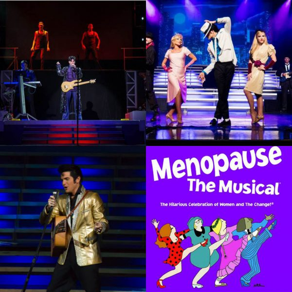 """Prince, Michael Jackson, Elvis, and """"Menopause the Musical"""" are just a few of the acts appearing at Branson's Legends of Concert in 2017."""